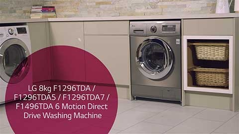 LGHA F1296TDA F1296TDA5 F1296TDA7 F1496TDA 6 Motion Washing Machine