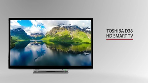 "24"" Toshiba HD Ready DVD TV Right Thumbnail"