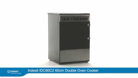 Indesit Electric Double Oven Cooker IDC60C2 Moonstone